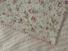 SIMPLY SHABBY CHIC CHERRY BLOSSOM PINK FLORAL Throw Or Twin Quilt New