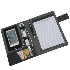 Gepolsterte Schreibmappe Manila DIN A5 im Materialmix -NEU-