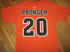 PHILADELPHIA FLYERS CHRIS PRONGER 20 JERSEY T SHIRT Orange Tee NHL Hockey Reebok