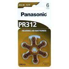 30x Pilas Panasonic PR312 Pilas Audifono PR41 DA312 6LB