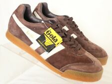 Gola NEW Brown Suede Training Wedge Casual Low Athletic Sneakers Men's US 9