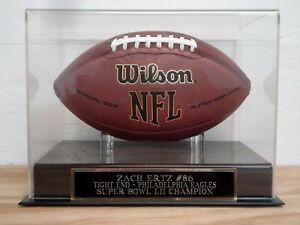 Zach Ertz Football Display Case For Your Philadelphia Eagles Signed Football
