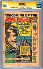 AVENGERS #1 CGC-SS -NG- *COVERLESS* SIGN STAN LEE JACK KIRBY DICK AYERS ART 1963