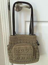 Women's Rosetti Beige Crochet Knit Shoulder Bag & Wallet Excellent Condition