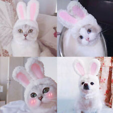 Cute Pet Cat Dog Cap Plush Rabbit Bunny Ears Hat Photo Props Cosplay Headdress
