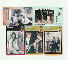 (5) Rare Phone Cards - The Rolling Stones