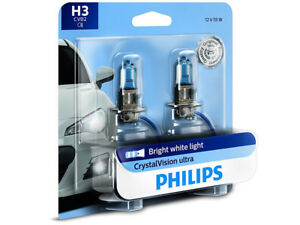 2x NEW PHILIPS CRYSTAL VISION H3 12336CVB2 HEADLIGHT FOG LIGHT MADE IN GERMANY