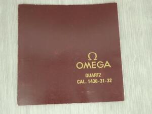 ORIGINAL INSTRUCTION BOOKLET FOR OMEGA QUARTZ CAL 1430 - 31 - 32