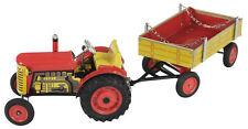 Blechspielzeug - Traktor ZETOR mit Anhänger, rot von KOVAP  Traktor Neu und OVP