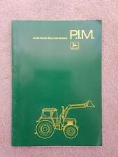 JOHN DEERE TRACTOR LOADERS PIM MANUAL