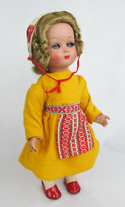 "Old All Original Jointed Head/Arms/Legs Celluloid 13 1/2"" Sleep-Eye Girl Doll"