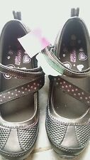 Danskin Now Girls Brown Shoes Active Wear Adjustable Straps Size 3 NEW