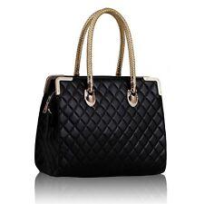 Ladies Design Handbag, Black Ostrich Doctor Style Tote Bag, 0054A
