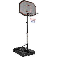 Cesta de baloncesto móvil soporte canasta + ruedas ajustable en altura 200-305cm