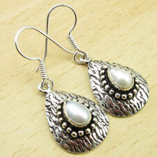 Gift For Wife Indian Jewelry Collection Pearl Earrings 4.0 Cm 925 Silver Plated