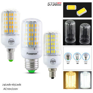 E27 E14 B22 E26 LED Corn Bulb Light 5730 SMD Lamp Incandescent warm cool whtite