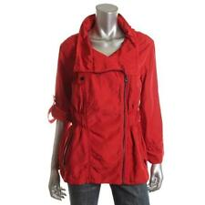 French Connection Red Asymmetric Long Sleeves Collar Jacket Size 6 $178