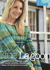 KNITTING PATTERN Ladies Off Shoulder Jumper Ribbed Long Sleeve Sweater Gedifra