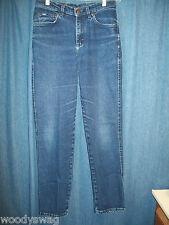 Lee Jeans Size 10 Med Cotton Distress Whisker Dark