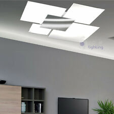 Plafoniera soffitto lampadario design moderno minimal acciaio cromato vetro