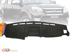 DASH MAT Ford Ranger PJ-PK 10/2006-9/2011 in Charcoal XL XLT (BLACK AVAI) DM1025