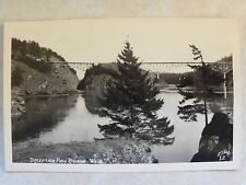 "RPPC ""Deception Pass Bridge, Washington, WA. Real Ellis Photo B&W Kodak Postcard"
