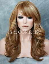 Dark Lite Blonde Tangerine mix HEAT SAFE Wavy Light Weight Wig Layers NGBY 2216