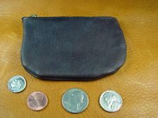 Dark Brown BUFFALO LEATHER Coinpurse pouch Wallet handcrafted disabled vet 5018