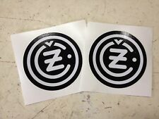 "CZ Fuel Tank Decal Set Vintage Gas Tank Decal Motocross 2 3/16""-56mm Sticker B/W"