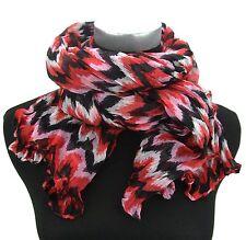 Damenschal rot schwarz weiß rosa by Ella Jonte Viskose Schal fashion new in