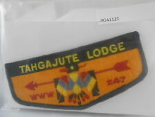 BOY SCOUTS O.A. LODGE 247 TAHGAJUTE BLACK BORDER NO FDLs CLOTH BACK   ROA1121