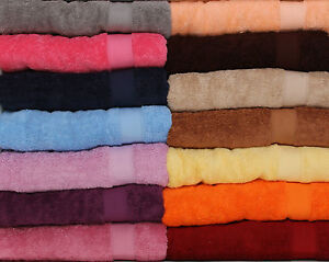 100% LUXURY EGYPTIAN COTTON TOWELS FACE GUEST HAND BATH 15 COLOURS