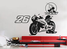 Pegatina vinilo decorativo Pared Vinyl Portable sticker Moto Dani Pedrosa Repsol