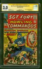 Sgt Fury Howling Commandos 13 CGC 3.0 SS Stan Lee Captain America cover 1964