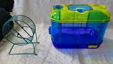 Small Plastic Hamster Cage & Exersize Wheel