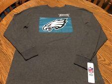 Philadelphia Eagles NFL Men's Gray Long-Sleeve Graphic T-Shirt, Size Large - NWT