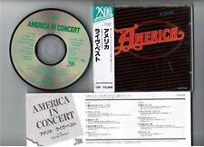 AMERICA America In Concert JAPAN CD CP28-1006 w/OBI 1988 2800 GREENLINE issue