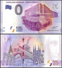Zero (0) Euro Europe,2017 - 2 (2nd Print),UNC,Overlord Museum-Omaha Beach,France