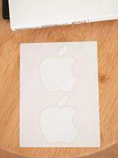 Genuine APPLE Logo Stickers 2x - White