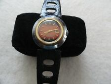 Vintage Russian Made Mechanical Wind Up  Watch - Black and Red Dial