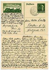 GERMANY 3rd REICH ILLUSTRATED STATIONERY CARD 1938 SCHELLERHAU