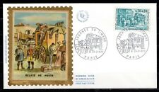 France - 1973 Stamp Day / Coach -  Mi. 1824 FDC (silk)