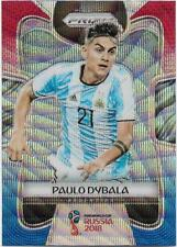 2018 Panini FIFA World Cup Blue Red Wave Prizm (10) Paulo DYBALA Argentia