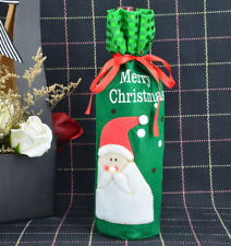 Red Wine Bottle Cover Bags Snowman/Santa Claus Christmas Decoration Sequins New