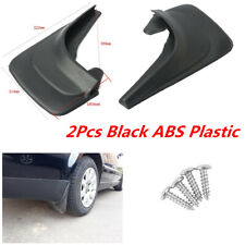 Car Front Rear Universal Black ABS Plastic Mud Flaps Splash Guards Fender 2Pcs