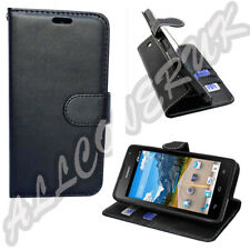 Luxury Leather Wallet Black Book Stand Case Cover For Sony Xperia Experia Black