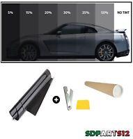3 Metri X 76cm Pellicola Oscurante Vetri Auto Nera Antigraffio Oscuramento 15%