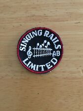 Singing Rails Limited Railroad Patch Train Embroidered Uniform Jacket Shirt NOS