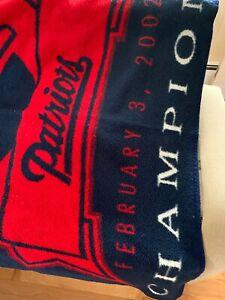 New England Patriots Super Bowl 36 XXXVI Champions Collectible Blanket