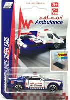 Majorette Dodge Challenger SRT Hellcat Dubai Ambulance Blue 1:66 238C